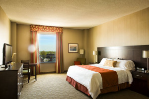 Guest room at Delta Trois-Rivieres Hotel and Conference Centre.