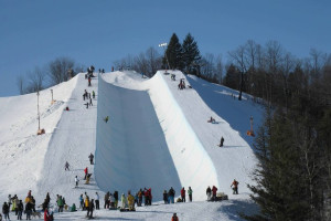 Snowboarding at Otsego Club and Resort.