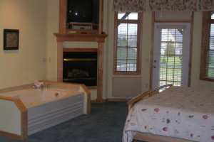 Guest room at Birchwood Lodge.