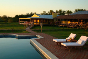 Outdoor pool at Irupe Lodge.