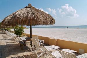 Beach chairs at Resort Rentals.