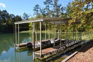 Fishing dock at Hot Springs Village Rentals.
