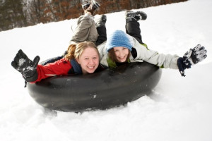 Snow tubing at Heartwood Conference Center & Retreat.