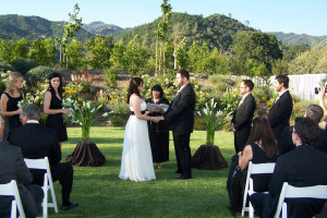 Wedding ceremony at Solage Calistoga.