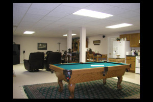 Recreation room at Canterbury Chateau Bed & Breakfast.