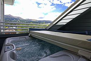 Vacation rental hot tub at SkyRun Vacation Rentals - Breckenridge, Colorado.