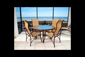 Vacation rental lanai at Crescent Royale Condominiums.