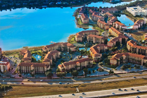 Aerial view of Westgate Lakes Resort & Spa.