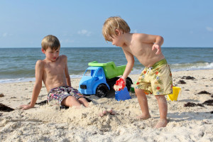 Beach fun at Collins Vacation Rentals.
