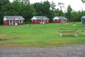 Cabins at The West Shore Resort.