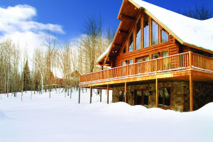 Exterior view of Blueberry Lake Resort.