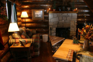 Cabin interior at Drummond Island Resort.