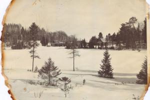 Vintage winter at Lakewoods Resort.