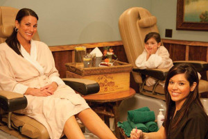 Pedicures at The Whiteface Lodge.