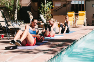 Fitness by the Pool at Chipeta Solar Springs Resort