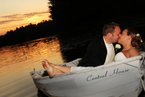Wedding couple at Central House Family Resort.