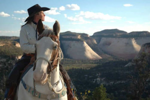Horseback riding at Zion Ponderosa Ranch.
