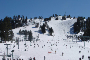 Skiing near Arrowhead Pine Rose Cabins.