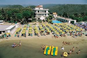 The beach at Hotel Gabriella.