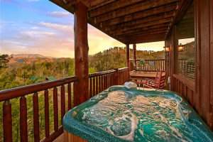 Rental jacuzzi at Smoky Mountains Vacation Cabins, LLC.