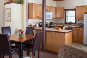 Guest kitchen at Inn At Lake Joseph.