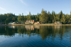 Exterior view of Alderbrook Resort and Spa.