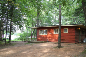 Cabin exterior at Holiday Acres Resort.