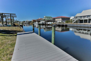 Rental dock at Holiday Isle Properties.