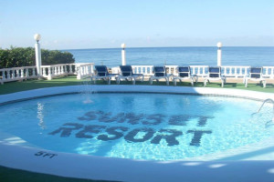 Outdoor pool at Sunset Resort at Treasure Beach.