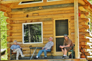 Cabin exterior at Bisonquest Wildlife Vacations.