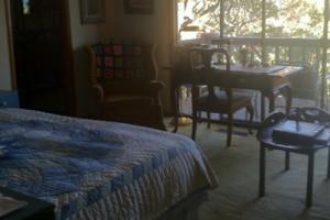 Guest room at Zinfandel House.