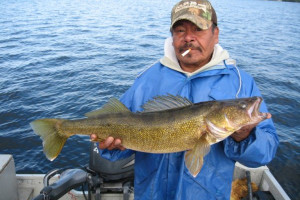 Walleye fishing at Sandy Beach Lodge.