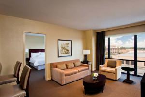 Guest suite at The Westin Huntsville.