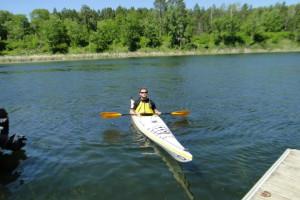 Kayaking at Becker's Resort & Campground.