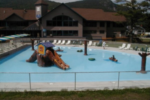 Children's pool at Attitash Mountain Village.