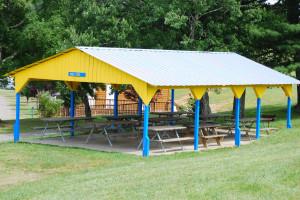 Picnic pavilion at Lake Ridge Resort.
