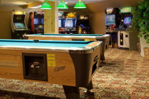 Game room at Holiday Inn Club Vacations at Ascutney Mountain Resort.