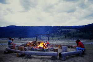 Campfire at 320 Guest Ranch.