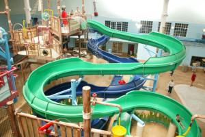 Indoor waterpark at Blue Harbor Resort & Spa.