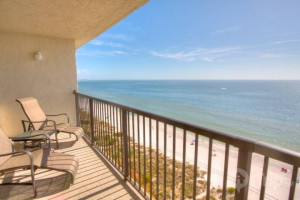 Rental balcony at iTrip - St. Pete Beach.