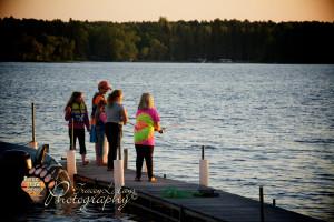 Children fishing.