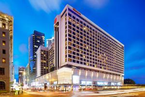 Exterior view of Sheraton Hong Kong Hotel & Towers.