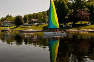 Lake activities at Sir Sam's Inn.