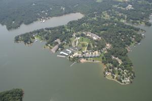 Aerial view of Big Bear Resort.