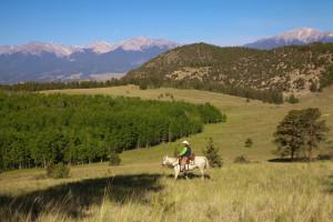 Riding at Elk Mountain Ranch.