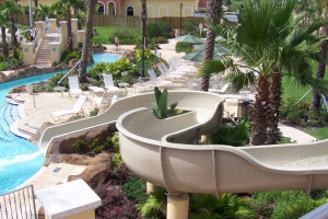 Waterslide at Regal Palms Resort.