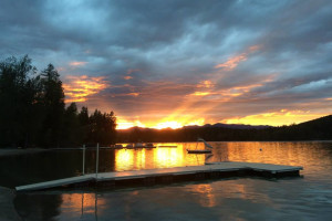 Sunset at Lake Five Resort.