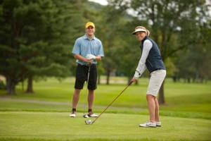Golfing at The Woodstock Inn & Resort.