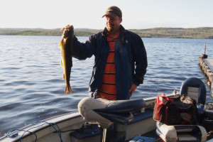 Fishing on Gunflint Lake at Heston's Lodge.