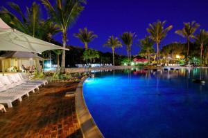 Outdoor pool at Capricorn International Resort.